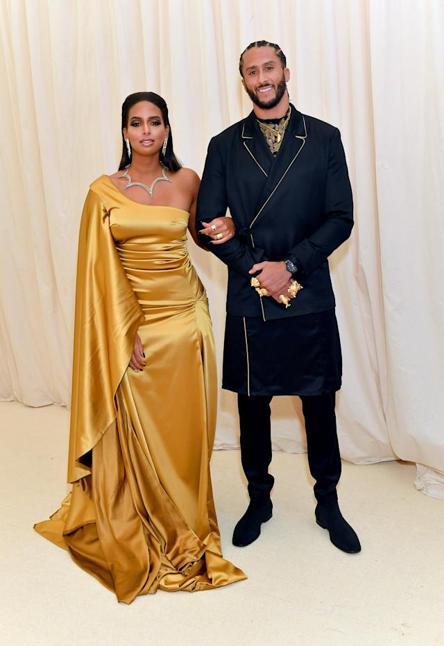 Nessa and Colin Kaepernick attend The 2019 Met Gala Celebrating Camp: Notes on Fashion at Metropolitan Museum of Art on May 06, 2019 in New York City. (Photo by Mike Coppola/MG19/Getty Images for The Met Museum/Vogue )