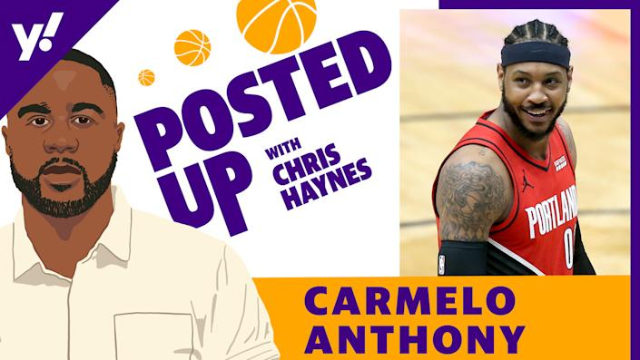 Los Angeles Lakers forward Carmelo Anthony joins the latest episode of Posted Up with Chris Haynes (Getty Images/Yahoo Sports)