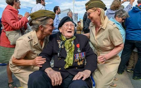 Veteran David Edwards with Bev Mortley and Michelle Weeks - Credit: Paul Grover