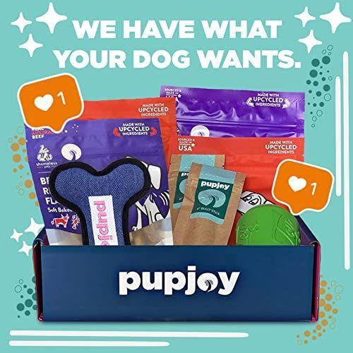 """<p><strong>Pupjoy</strong></p><p>amazon.com</p><p><strong>$39.99</strong></p><p><a href=""""https://www.amazon.com/dp/B08HQP2TY5?tag=syn-yahoo-20&ascsubtag=%5Bartid%7C10055.g.34739804%5Bsrc%7Cyahoo-us"""" rel=""""nofollow noopener"""" target=""""_blank"""" data-ylk=""""slk:Shop Now"""" class=""""link rapid-noclick-resp"""">Shop Now</a></p><p>With a high level of customizability, this box is great for those whose pups have finicky tastes, and also comes in small, medium, and large-dog options. You can also adjust the delivery frequency, if Fido doesn't finish the contents quickly enough to make a monthly box worth it. </p><p><strong>$40 monthly, bi-monthly, or quarterly</strong></p><p><strong>RELATED: </strong><a href=""""https://www.goodhousekeeping.com/holidays/gift-ideas/g474/pet-gifts/"""" rel=""""nofollow noopener"""" target=""""_blank"""" data-ylk=""""slk:47 Pet Gifts to Give Your Dog or Cat the Most Pawsome Holiday Yet"""" class=""""link rapid-noclick-resp"""">47 Pet Gifts to Give Your Dog or Cat the Most Pawsome Holiday Yet</a> </p>"""