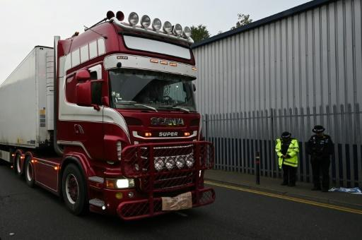 The 39 migrants were found in a truck in an industrial zone east of London