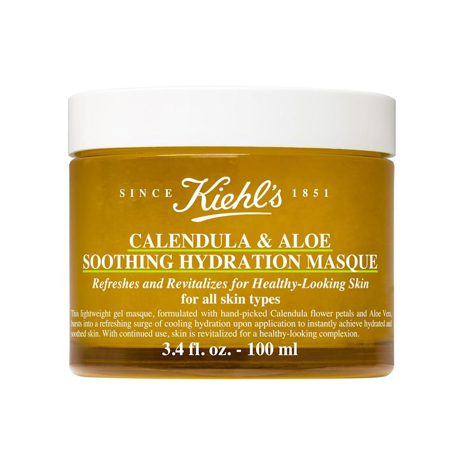 "<p>This cools-on-contact formula is probably the most gentle of the bunch, thanks to soothing aloe vera and hydrating calendula. Together, the two powerhouse ingredients make for one seriously moisturizing mask.</p><p>$45 (<a rel=""nofollow"" href=""https://shop-links.co/1626912127126774938?mbid=synd_yahoolife"">Shop Now</a>)</p>"