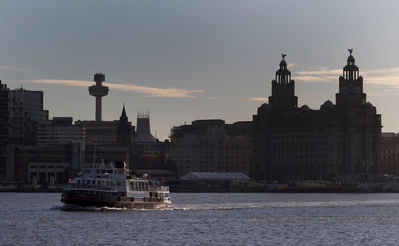 Ferry sails across River Mersey following COVID-19 outbreak in Liverpool