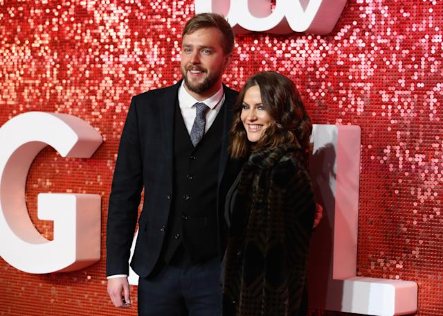 Iain Stirling and Caroline Flack at the ITV Gala held at the London Palladium on November 9, 2017 in London (Mike Marsland/Mike Marsland/WireImage)