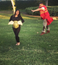 """<p>Even if your invite to Hogwarts got lost in the mail, you can still turn your pregnancy belly into a golden snitch for a Muggle-free, <em>Harry Potter</em>-inspired game of Quidditch. </p><p><a class=""""link rapid-noclick-resp"""" href=""""https://www.amazon.com/Kangaroos-36-Witches-Broom-Straw/dp/B01LXD6YDV/?tag=syn-yahoo-20&ascsubtag=%5Bartid%7C10050.g.4972%5Bsrc%7Cyahoo-us"""" rel=""""nofollow noopener"""" target=""""_blank"""" data-ylk=""""slk:SHOP BROOMSTICKS"""">SHOP BROOMSTICKS</a></p>"""