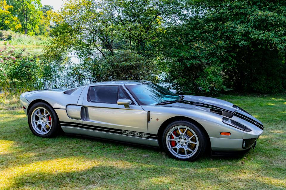 Ford GT 2005 sports car on display at the 2019 Concours d'Elegance at palace Soestdijk in Baarn, Netherlands.