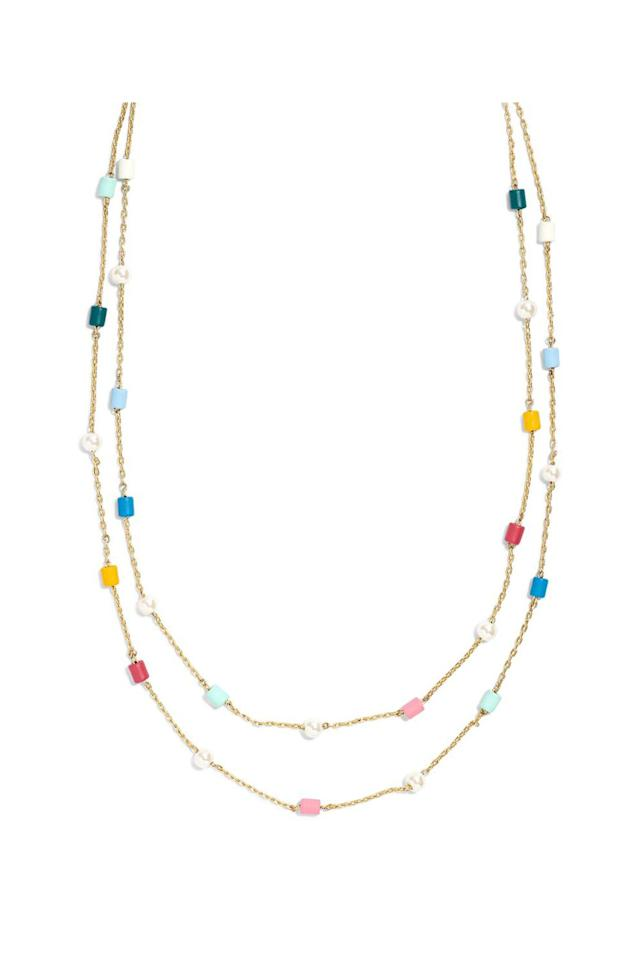 "<p><strong>Madewell</strong></p><p>nordstrom.com</p><p><strong>$38.00</strong></p><p><a href=""https://shop.nordstrom.com/s/madewell-beaded-imitation-pearl-layered-necklace/5236193"" target=""_blank"">SHOP IT</a></p><p>Madewell is beloved for its amazing jeans and basics, but I especially love their jewelry, which can be seriously underrated. Case and point: this necklace. The two-strand design gives you the layered look in an instant and the multicolored beading will make it super easy to pair with the other necklaces and chokers already in your collection.<br></p>"