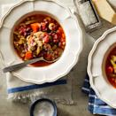 <p>A winter classic, this crock pot version of minestrone is heavy on the vegetables and light on the pasta, keeping carbs in check while providing plenty of flavor.</p>