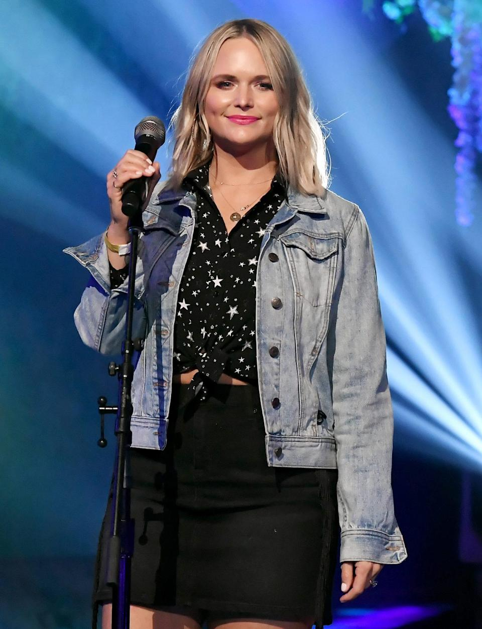 <p>Miranda Lambert rehearses onstage for the 63rd annual Grammy Awards at the Los Angeles Convention Center on Wednesday in L.A.</p>