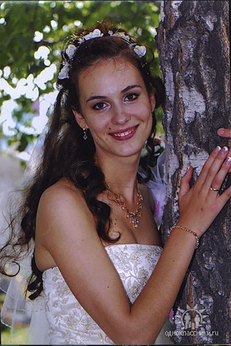 Natalya Dolganovskaya is pictured in a wedding gown. Source: East2West News/Australscope