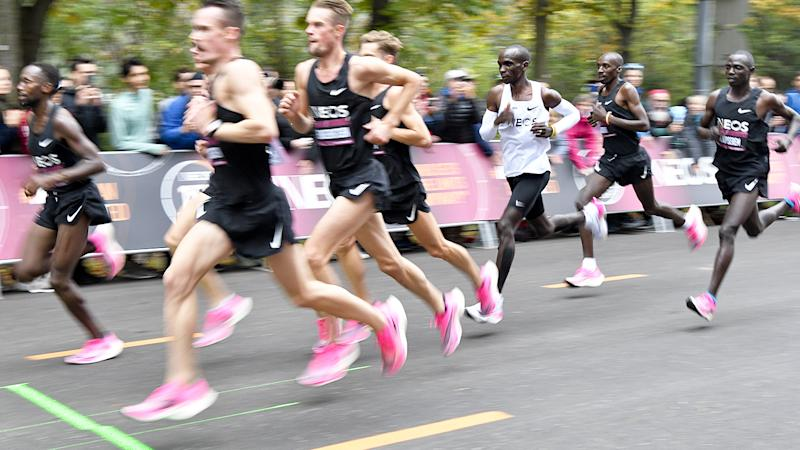 Eliud Kipchoge, pictured here during his attempt to bust the two-hour marathon mark.