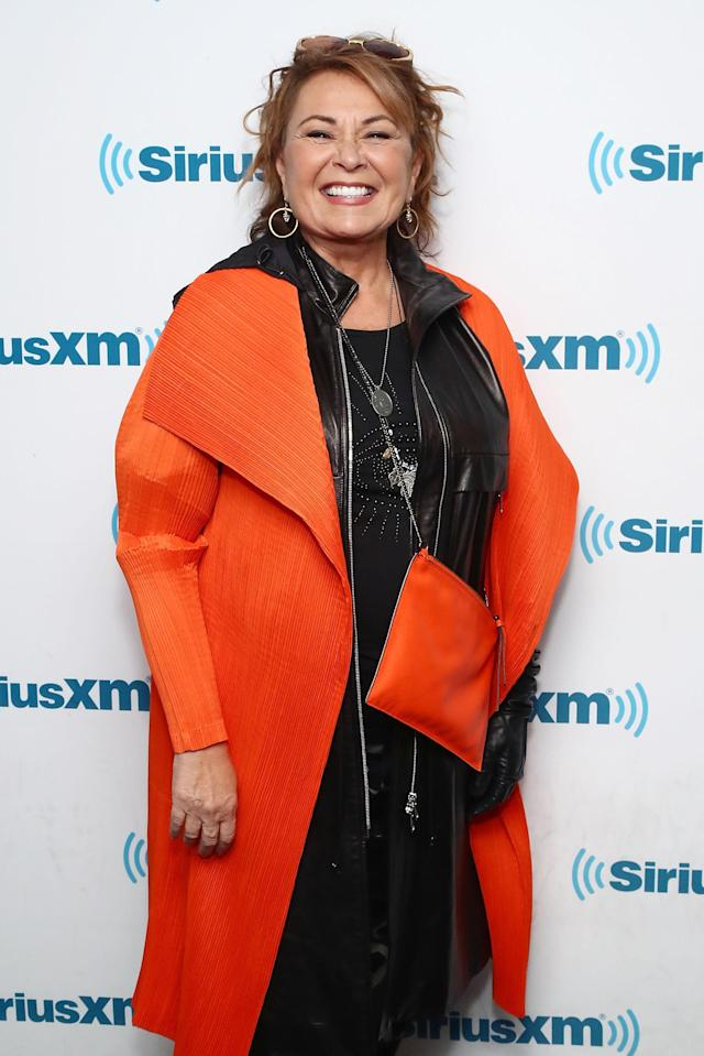Roseanne Barr poses for photos during SiriusXM's Town Hall with the cast of <em>Roseanne</em> on March 27, 2018, in New York City. (Photo by Astrid Stawiarz/Getty Images for SiriusXM)
