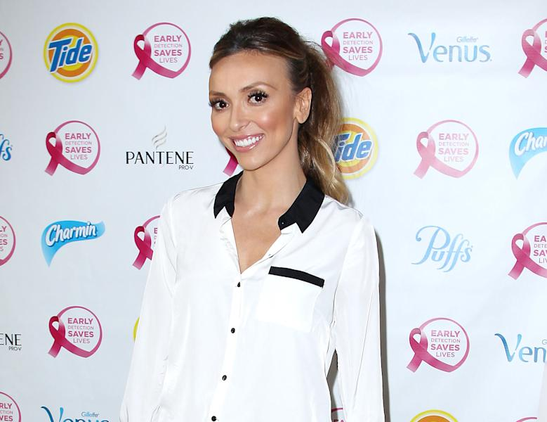 "This image released by Starpix shows TV personality Giuliana Rancic attending the ""Do It For the Girls!"" event, Thursday, Sept. 20, 2012, in New York. The initiative, sponsored by Proctor & Gamble and the National Breast Cancer Foundation, hopes to motivate woman nationwide to conduct a breast self-exam and create an early detection plan for breast cancer. In addition, P&G will donate an uncapped amount to the National Breast Cancer Foundation through online social momentum and brandSaver coupons. Last October, Rancic announced that she had breast cancer and later revealed that she was undergoing a double mastectomy. (AP Photo/Starpix, Kristina Bumphrey)"
