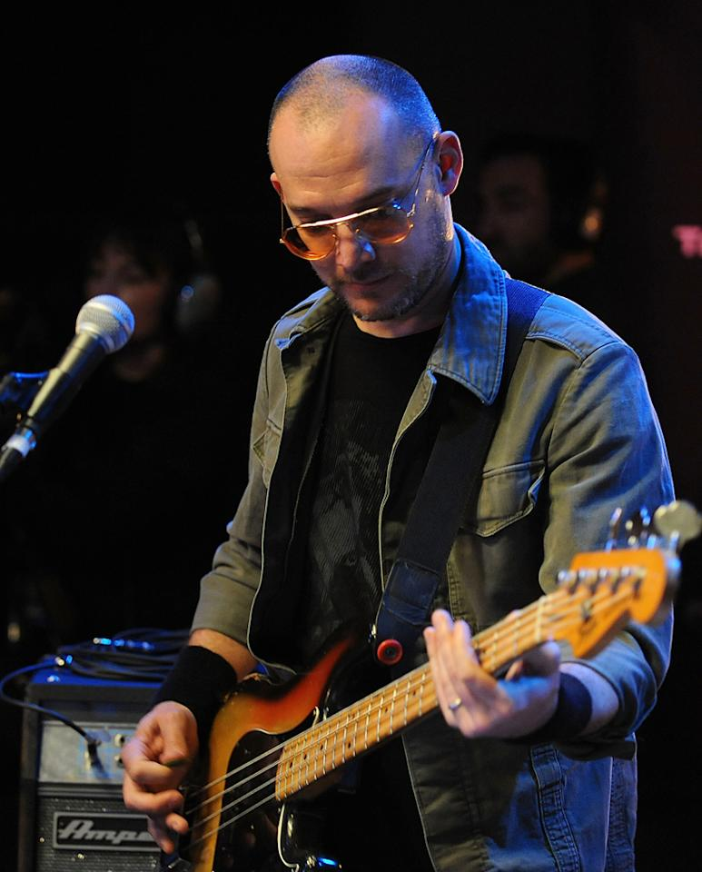 "Musician Scott Devendorf of The National performs during the Yahoo! Music Presents ""The Bridge Session"" sponsored by Headcount at TRI Studios on March 24, 2012 in San Rafael, California."