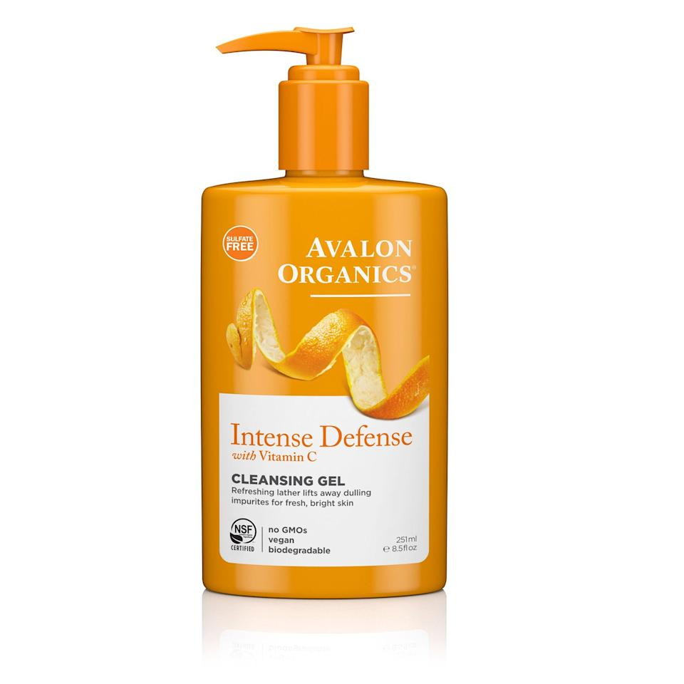 """<p><strong>Avalon Organics</strong></p><p>walmart.com</p><p><strong>$8.04</strong></p><p><a href=""""https://go.redirectingat.com?id=74968X1596630&url=https%3A%2F%2Fwww.walmart.com%2Fip%2F10324713&sref=https%3A%2F%2Fwww.thepioneerwoman.com%2Fbeauty%2Fg34963365%2Fbest-gel-cleansers%2F"""" rel=""""nofollow noopener"""" target=""""_blank"""" data-ylk=""""slk:Shop Now"""" class=""""link rapid-noclick-resp"""">Shop Now</a></p><p>Vitamin C, white tea, and lemon bioflavonoids help prevent premature signs of aging, plus they protect against environmental stressors like UV rays and pollution. Bonus: The orange scent is scrumptious!</p>"""