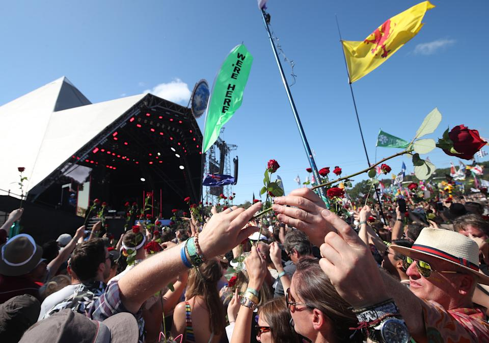 Permission has been granted for a small-scale event at the Glastonbury Festival site. (Photo by Yui Mok/PA Images via Getty Images)