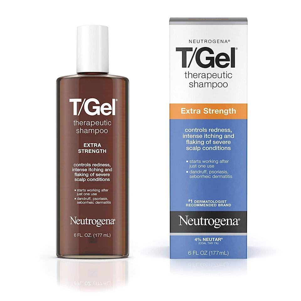 <p>If you have an irritated or itchy scalp, treat it right with the <span>Neutrogena T/Gel Extra Strength Therapeutic Shampoo</span> ($8). Use it once a week for instant relief.</p>