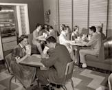 <p>It's a full house at this bustling 1950s malt shop... someone cue the jukebox.</p>