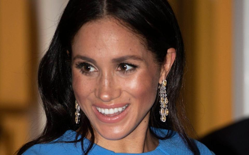 Meghan has been criticised for wearing earrings that were a gift from Crown Prince Mohammed bin Salman of Saudi Arabia - Ian Vogler/Daily Mirror/PA Wire