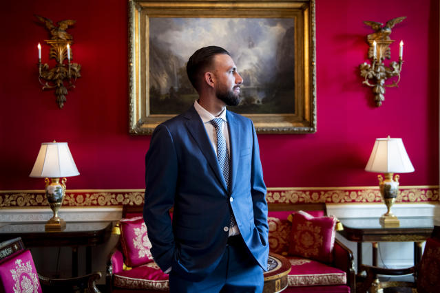 WASHINGTON, DC - MAY 9: Matt Barnes #32 of the Boston Red Sox takes a tour during a visit to the White House in recognition of the 2018 World Series championship on May 9, 2019 in Washington, DC. (Photo by Billie Weiss/Boston Red Sox/Getty Images)