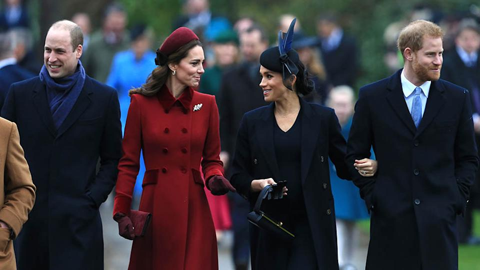 Prince William, Kate Middleton, Meghan Markle, and Prince Harry