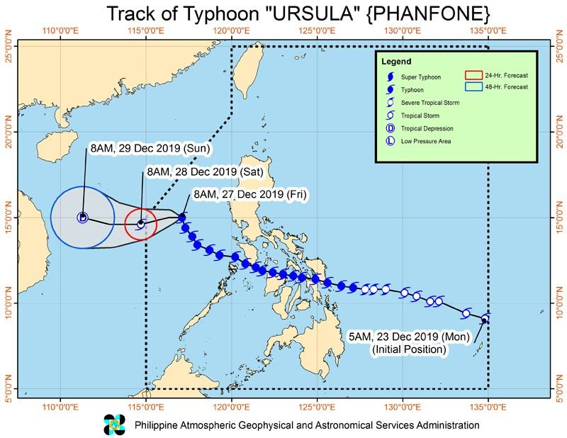 'Ursula' no longer affects PH; cold front's tail end to bring rains over Northern Luzon