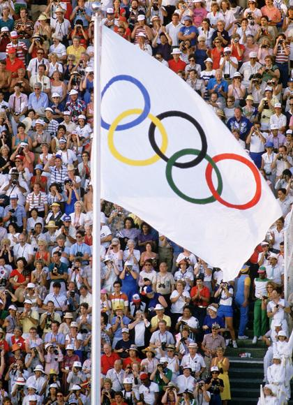 """The six colours, including the white background, represent the colours of all the world's flags ... this is a true international emblem"" - Pierre de Coubertin (founder of modern Olympic Games)"