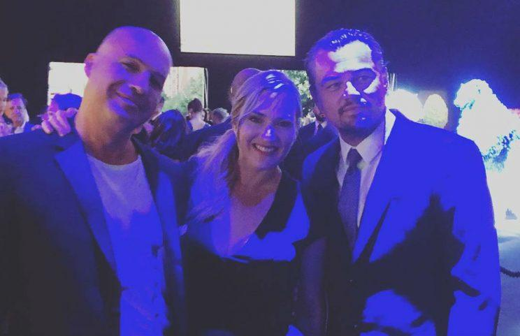 Reunion... Titanic stars get together for Leonardo DiCaprio's foundation gala - Credit: Instagram