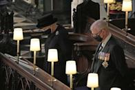 The Queen and the Duke of York during the funeral of the Duke of Edinburgh