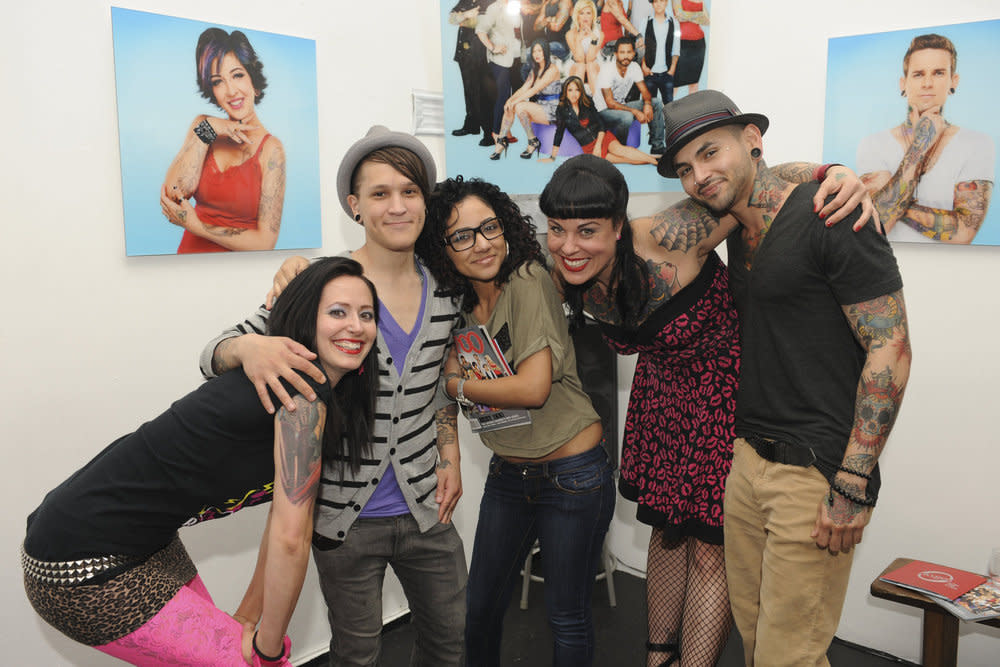 """Alexis, Nicky, Tiffany, Jessica, and Jon at the """"<a target=""""_blank"""" href=""""http://tv.yahoo.com/best-ink/show/47025"""">Best Ink</a>"""" Screening."""