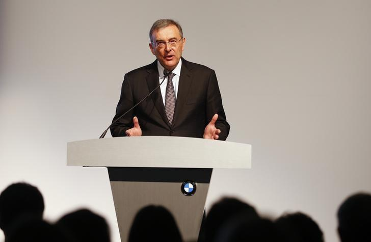 Norbert Reithofer speaks during an event to unveil the new X4 at the BMW manufacturing plant in Spartanburg