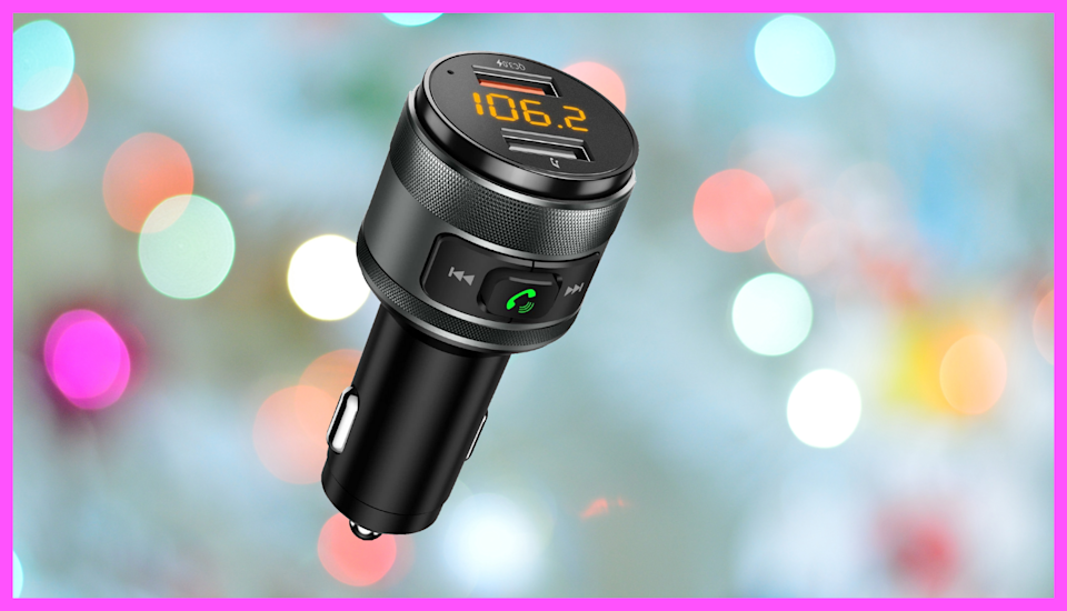 Save an impressive 54 percent on this Imden Bluetooth 5.0 FM Car Transmitter. (Photo: Amazon)