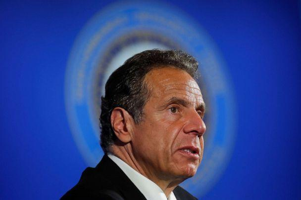 PHOTO: New York Governor Andrew Cuomo addresses a briefing on the coronavirus disease response at the National Press Club following his meeting with President Trump in Washington, May 27, 2020. (Carlos Barria/Reuters, FILE)