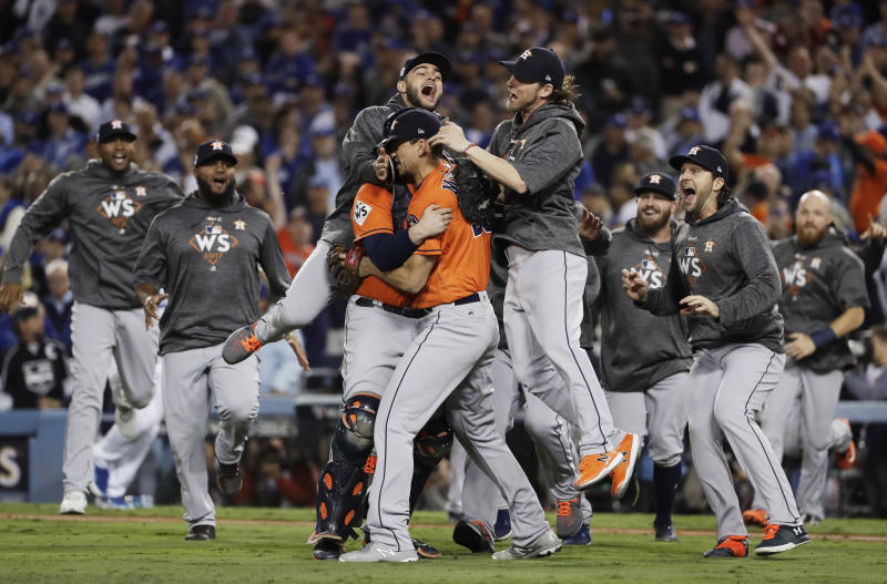 The Astros weren't the only ones celebrating their World Series win — bettors won $11.4 million because of them. (AP)