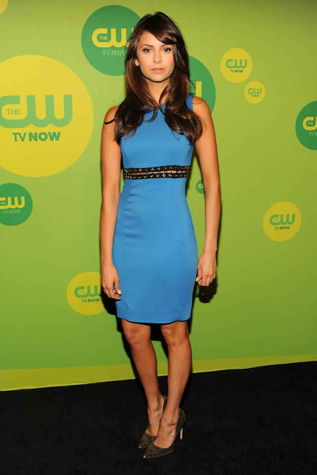 NEW YORK, NY - MAY 16:  Actress Nina Dobrev attends The CW Network's New York 2013 Upfront Presentation at The London Hotel on May 16, 2013 in New York City.  (Photo by Ben Gabbe/Getty Images)