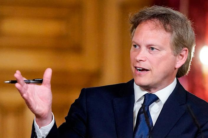 Transport Minister Grant Shapps (10 Downing Street/AFP via Getty)
