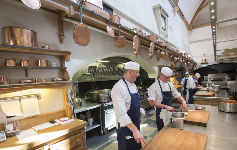 The kitchen at Windsor Castle. (Photo: PA Images)