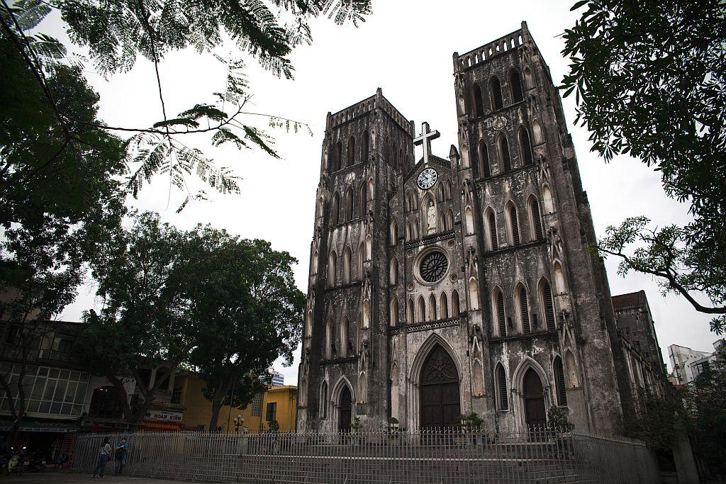 Saint Joseph Cathedral in Hanoi, Vietnam.