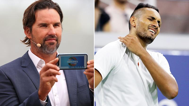 Pat Rafter thinks Nick Kyrgios is deserving of a suspension.