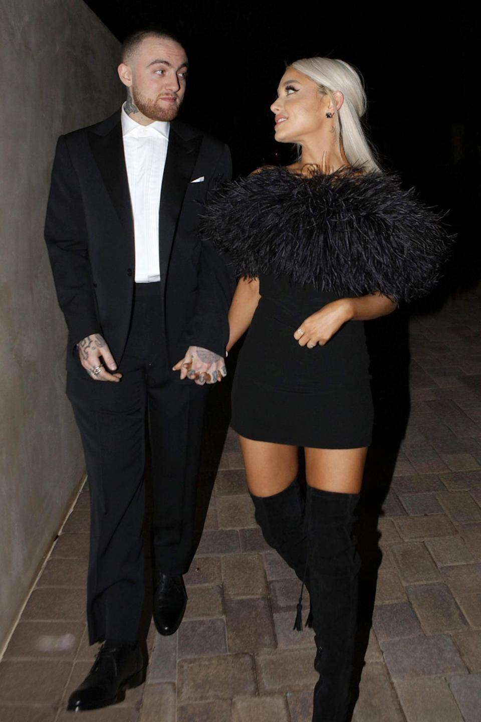 <p>It isn't often we see Roach go with the simplicity of a little black dress, but when it happens, it's Saint Laurent and it's doused in feathers.</p>