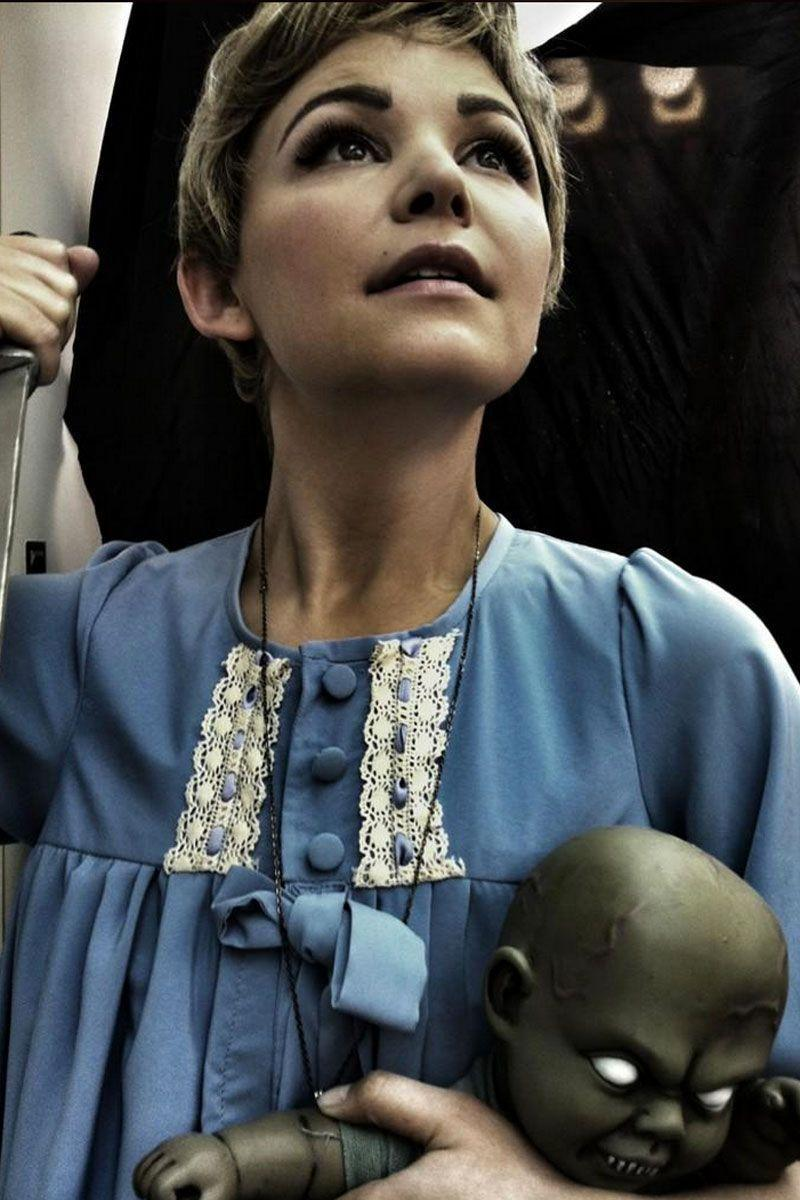 <p>As Rosemary Woodhouse from <em>Rosemary's Baby</em>.</p>
