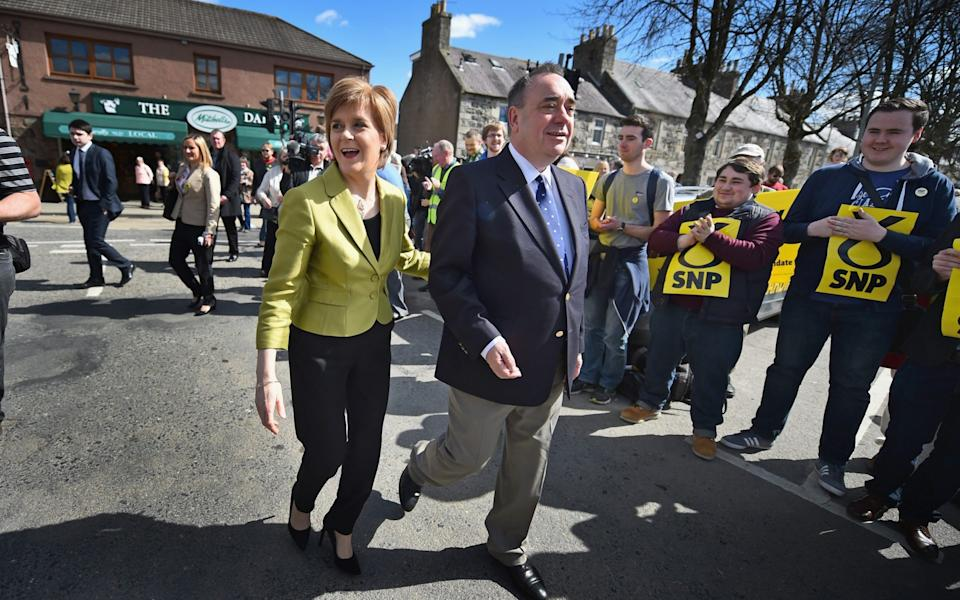 Once close allies, Nicola Sturgeon and Alex Salmond have fallen out spectacularly - Jeff J Mitchell/Getty