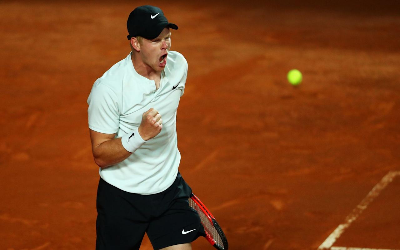 Ah, Rome! The annual Masters event is usually seen as a glamorous week of dolce vita – but that was hardly the experience of the crowd on NextGen Arena, as Kyle Edmund slugged his way to a scratchy victory in damp and chilly conditions. Spectators could be seen jogging on the spot to keep warm as Edmund struggled to subdue the challenge of Malek Jaziri, the world No 64 from Tunisia. The quality of play was spotty at best, as witnessed by a combined total of exactly 100 unforced errors by the two players. But Edmund won ugly, scraping his way into the second round by a 6-3, 3-6, 6-3 margin. For Edmund's progress into the world's elite to continue, he needs to be able to deal with the tennis equivalent of a wet Wednesday at Stoke. We saw him take out an all-time great last week, in the shape of Novak Djokovic. But that was of zero benefit on Mondaynight, particularly while he was spraying the ball in all directions during a messy second set. The NextGen Arena is the poor relation of Rome's courts, flung out in the far corner of the otherwise lovely Foro Italico site, and at that stage the tennis was matching its surroundings. Edmund's inaccuracy could partly be explained by a dramatic change in conditions. He played his quarter-final in Madrid on Friday night, falling just short against the 19-year-old wunderkind Denis Shapovalov. But that was at an altitude of just over 2,000 feet, which meant that the ball sped through the court with a little extra zip. Malek Jaziri hinted at a possible upset Credit: getty images These Roman courts can also be lively when the weather is hot, but clay is a moody surface that responds in all manner of unpredictable ways. On Monday, the red dirt slowed everything down, damping Edmund's trademark forehand and allowing Jaziri – who is relatively underpowered at this level – to scramble his way close to an upset win. The impressive part of the evening was the way Edmund lifted his level in the final half-hour. Having won only 31 per cent 