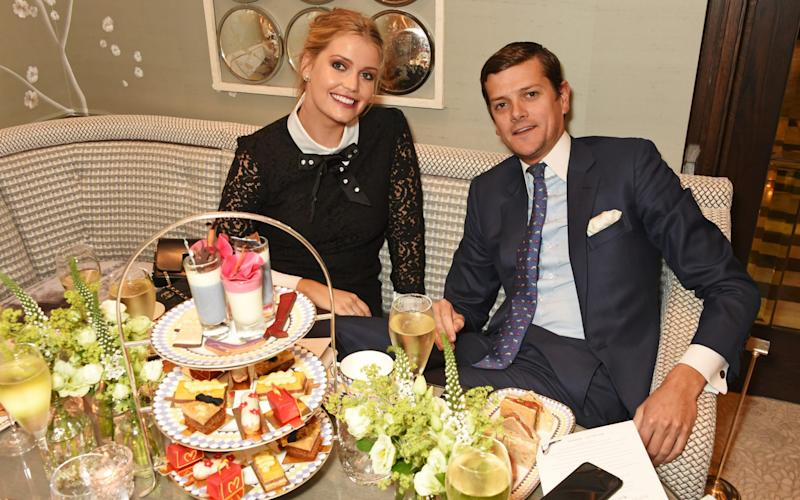 Lady Kitty Spencer (L) and Alexander Spencer Churchill - Credit: Getty Images