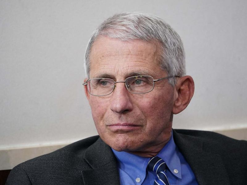 File image of Dr Anthony Fauci, director of the National Institute of Allergy and Infectious Diseases in the US: AFP via Getty Images