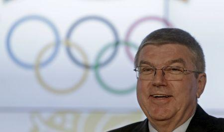 IOC President Thomas Bach smiles during the 44th European Olympic Committee General Assembly in Prague