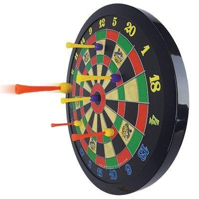 <p>This <span>Doinkit Darts Magnetic Dart Board</span> ($33) is perfect for his man cave.</p>
