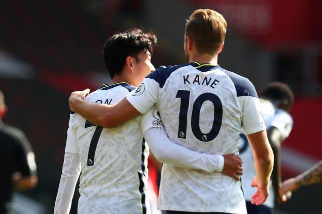 Son Heung-min (left) and Harry Kane have been the perfect partners