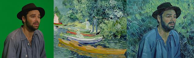 Aidan Turneras Boatman, reportedly inspired by van Gogh's portrait of a young peasant.