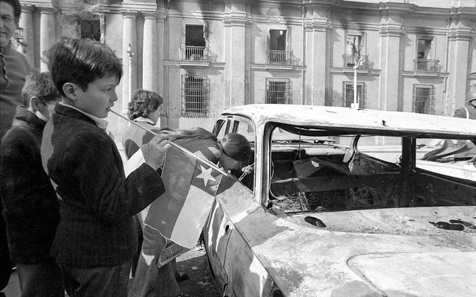 A child in Chile during the aftermath of the 1973 coup - Getty